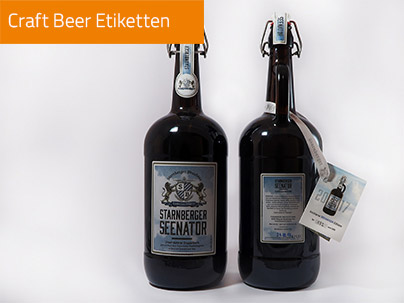 Craft Bier Etiketten mit Siegel